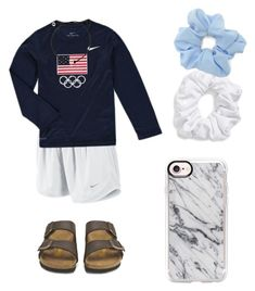""""" by kaelyn-grace-1 on Polyvore featuring NIKE, Birkenstock, Casetify, Natasha and Forever 21"