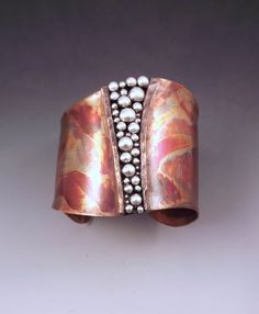 Copper Cuff - Powerful Goddess- Tribal Rustic Earthy- Boho Chic- Warrior- Mixed Metal- Signature RedPaw- Statement Cuff Bracelet -- Awesome products selected by Anna Churchill