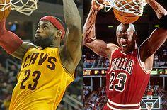 LeBron James a much better bet than Jordan ever was in close-out games - Lebron James, Michael Jordan, Nba, Jordans, Games, Toys, Game