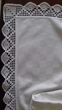 Crochet Boarders, Crochet Edging Patterns, Lace Knitting Patterns, Crochet Lace Edging, Crochet Fabric, Crochet Quilt, Crochet Diagram, Thread Crochet, Filet Crochet