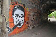 Street art og Jean Paul Sartre kombinert... kan jo ikkje anna enn lika da :)