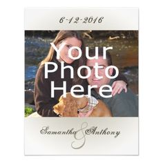 Classy Simple Photo Wedding Invitations