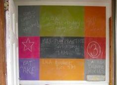 color-blocked chalkboard via Host-It Notes