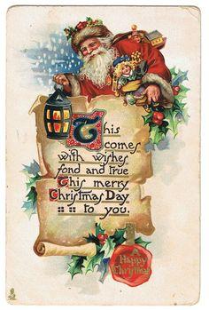 #Christmas #Santa #claus St Nick (vintage postcard)