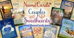 Personalized name cards for sweethearts & couples.  Show your darling you love 'em with a personalized name meaning card with a hand-chosen Bible verse.  Just $3.99; any name, any design at www.NameCards.work