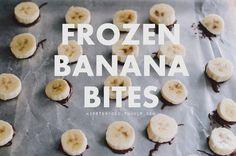 DIY frozen banana bites recipe
