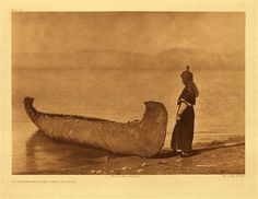 "On the shore of the lake – Kutenai, 1910. Photogravure. Curtis Caption: ""The distant foothills of the Rocky mountains occupy the background."""