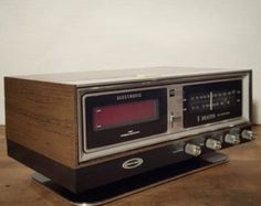 1970s Wynford Hall Flip Clock AM FM Digital by HailleysCloset