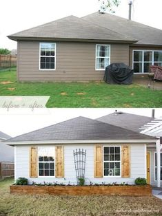 #9. Shutters make a huge difference! ~ 17 Impressive Curb Appeal Ideas (cheap and easy!) by sally tb