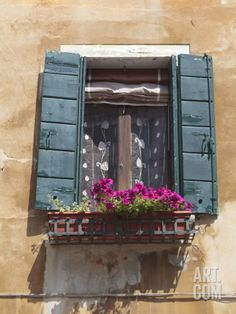 Window and Shutters, Venice, Veneto, Italy, Europe Photographic Print by Amanda Hall at Art.com