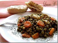 Sotè de mazare cu piept de pui Romanian Food, Black Eyed Peas, Carne, Beans, Cooking Recipes, Vegetables, Chef Recipes, Vegetable Recipes