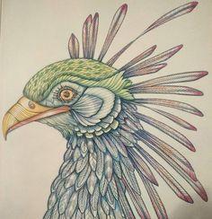"""Peck peck! #wildsavannah #milliemarotta #colouring #colouringin #adultcolouring #crayonbitches #crayons #nevertooold"""