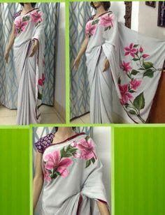 Japanese crepe saree