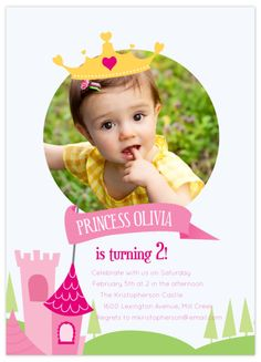 Invite with picture... Prefer these for baby book