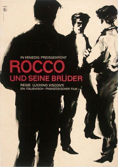 Rocco and His Brothers (Luchino Visconti,1960) German design
