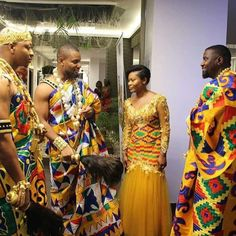 Ghanaian's Kente Styles Slay For Days African Wedding Attire, African Attire, African Wear, Latest African Fashion Dresses, African Print Fashion, Africa Fashion, Nigerian Traditional Dresses, African Fashion Traditional, Kente Dress