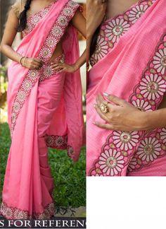 Buy Royal Cotton Light Pink Designer Saree