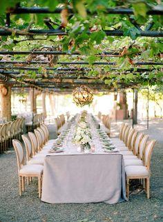 decoração de casamento com folhagens