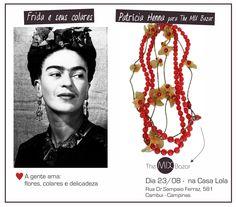 Intensidade e delicadeza. #themixbazar #casalola #patriciahenna #arte #colares #frida #cores