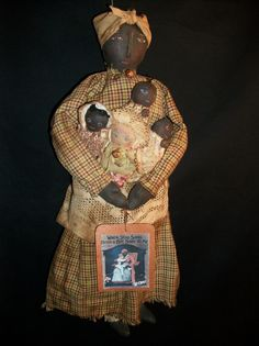 Primitive Folk art Black Mammy doll PATTERN by Dumplinragamuffin, $9.00