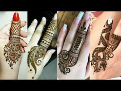 Unique Mehndi Designs for hands 2018 | Latest Unique Henna designs | Latest finger mehndi designs - YouTube