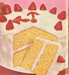 cake vintage | Tumblr Retro Recipes, Vintage Recipes, Vintage Food Posters, Old Fashioned Recipes, Cute Desserts, Just Cakes, Betty Crocker, Pretty Cakes, Food Illustrations