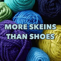 Skeins over shoes - tag someone who can relate! by yarnspirations