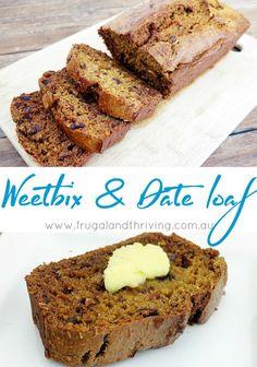 Weetbix Date Loaf Recipe Saving Money Tips Food recipes 2 gluten free weet bix calories - Gluten Free Recipes Loaf Recipes, Baking Recipes, Cake Recipes, Dessert Recipes, Desserts, Food Cakes, Healthy Baking, Calories, No Bake Cake