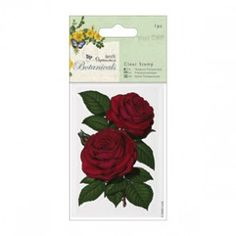 70 x 100mm Clear - Botanicals - Red Rose