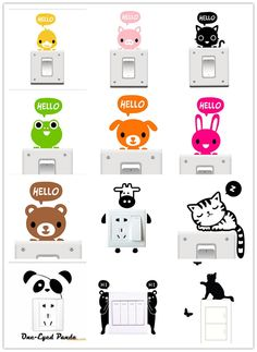 Cheap Promoción grande al por mayor de 20 estilos de dibujos animados de animales de eco amigable decoración del hogar pegatinas etiqueta engomada del interruptor, Compro Calidad Pegatinas de Pared directamente de los surtidores de China:     Note: (Please read before order):           1. For orders < $ 7, we recommend that you use our&nbs