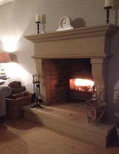Natural Stone Fireplace The Provencal Carved in York Stone