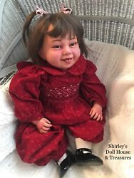 """Pat Secrist Reborn Raspberry Baby Doll 23"""" opened nostrils Weighted"""