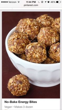 No Bake Energy Balls! They Are So Healthy!