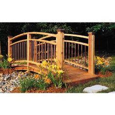 Arched Garden Footbridge: Downloadable Woodworking Plan