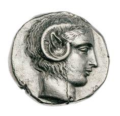 Statere - argento - Metaponto, Lucania (430-410 a.C.) - Apollo Karneios vs.dx. con corna di ariete e orecchio ferino - Museum of Fine Arts, Boston