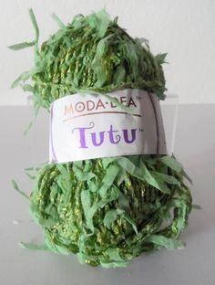 Moda Dea Tutu art yarn in green Cheap Yarn, Art Yarn, Tutu, Green, Cotton, Etsy, Tutus, Yarns