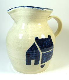 Country vintage handmade pottery pitched stenciled by VintageRerun, $21.00