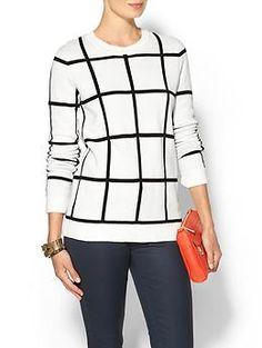 Love the print! Pim + Larkin Windowpane sweater | Piperlime
