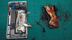 SAMSUNG NOTE 7 GALAXY quemado en pruebas
