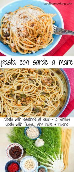 pasta con sarde a mare - 'pasta with sardines at sea', a Sicilian ...
