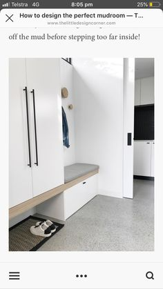 How to design the perfect mudroom — The Little Design Corner Find out the elements I like to include when designing a mud or boot room Boot Room, Mudroom, Room Design, Under Stairs, Laundry Room Design, House Interior, Hallway Designs, Mudroom Entryway, Mud Room Entry