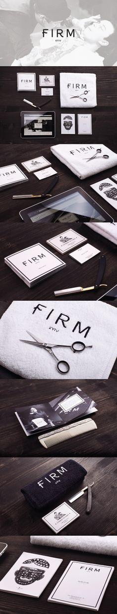Cool Brand Identity Design on the Internet. FIRM Barbershop. #branding #brandidentity #identitydesign @ http://www.pinterest.com/alfredchong/brand-identity/