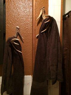Deer Antler Towel Holder - Rack, Shed, Sheds, Antlers