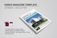 Hanco Magazine Template by banks on Creative Market