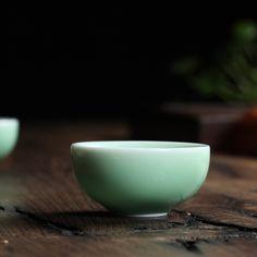 Big Sale 10 pcs Brother Kiln Chinese Longquan Celadon Porcelain Kung Fu Teacups and Saucer Tea Bowl 35ml China Coffee Cup(China (Mainland))