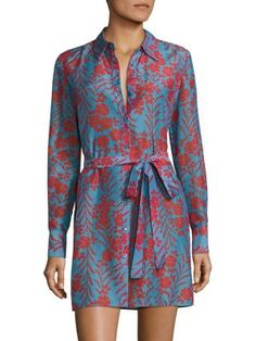DIANE VON FURSTENBERG Floral Shirt Dress. #dianevonfurstenberg #cloth #dress