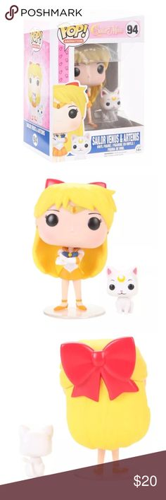 """NEW~ Funko Pop! Sailor Venus Figure Funk Pop! Sailor Venus Figure  PRODUCT: Funko Sailor Moon Pop! Animated Sailor Venus & Artemis Vinyl Figure  CONDITION: New in unopened box/ package  PRODUCT DETAILS: Item has some shelf wear from storage- see pics Sailor Venus & Artemis from Sailor Moon are given fun, and funky, stylized looks as as adorable collectible vinyl figures!  • 3 3/4"""" tall • Vinyl  • Imported  • By Funko Funko Pop Other"""