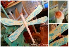 Dragonfly. Fan blades and table leg!