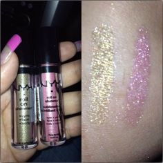 Bought 2 NYX roll on Shimmers. RES07 Taupe and RES05 Mauve Pink. #nyx #nyxcosmetics #makeup