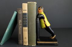 Vintage Mid Century Bookend Leaning Chinese Man by ABCO by Circa810 on Etsy